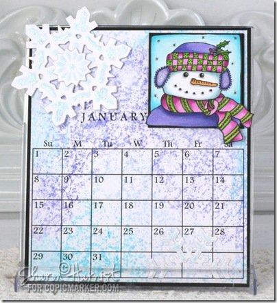 Новогодний календарь, нарисованный копиками